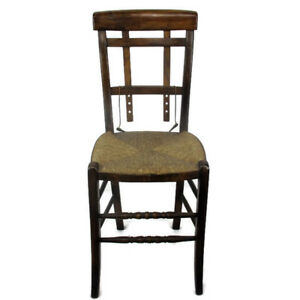 funky wooden chairs swivel chair subnautica antique rush seating adjustable back extremely rare image is loading