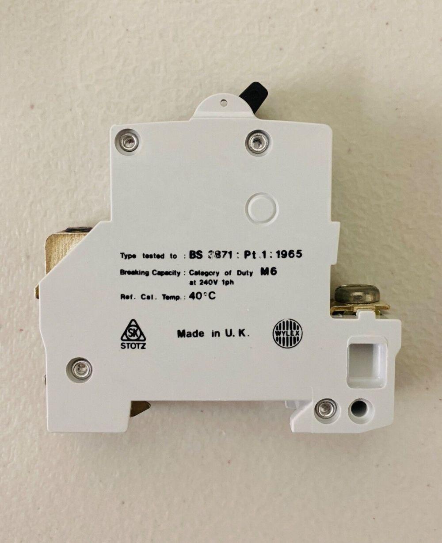 medium resolution of wylex 30 amp type 2 m6 mcb circuit breaker nb30 stotz for sale online ebay