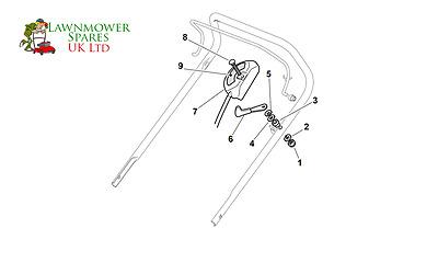 CHAMPION R484TR SP PETROL LAWNMOWER THROTTLE ASSEMBLY