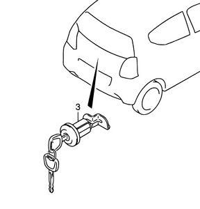 Genuine Suzuki ALTO Rear Boot Tailgate Lock Barrel