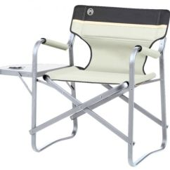 Coleman Deck Chair With Table Diy Outside Cushions Khaki 204066 Ebay Camping Folding