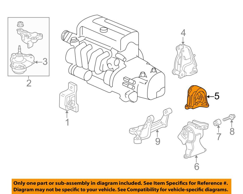 medium resolution of acura honda oem 02 06 rsx engine motor mount torque strut 50810s7c981
