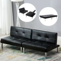 Leather Chair Bed Sleeper Co Chairs Circle Folding Convertible Couch Futon Sofa Living Room Image Is Loading
