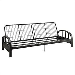 metal frame sofa bed white slipcover photos durable dhp aiden futon black construction quickly converts