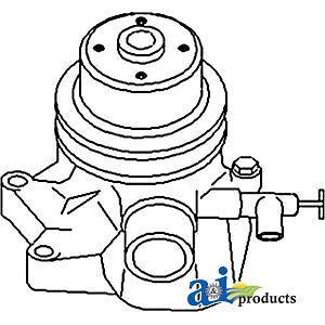 John Deere Parts WATER PUMP L/ BACK PLATE AT12862 1010