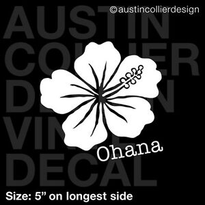 5quot OHANA HIBISCUS vinyl decal car truck window laptop