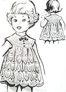 5816 Vintage CHILD'S PINEAPPLE LACE DRESS Pattern to