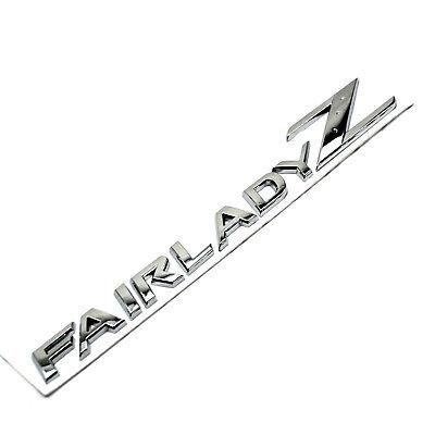 Chrome 3D Fairlady Z Car Body Rear Trunk Emblem Sticker