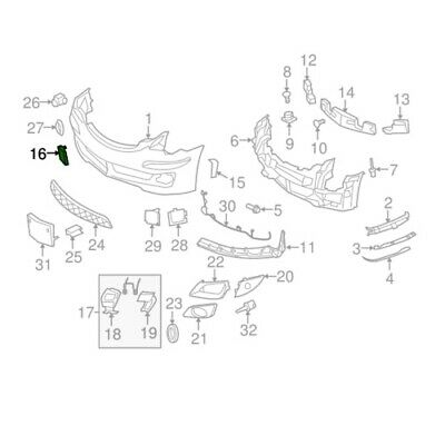 Genuine Front Bumper Tow Hook Cover Flap for Mercedes-Benz