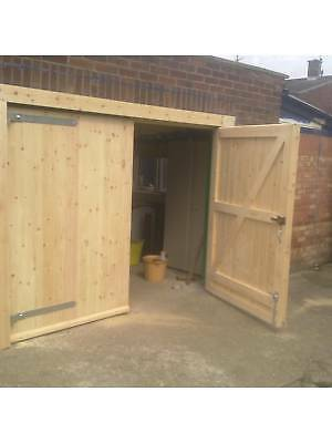 Custom Made To Measure Timber Wooden Garage Door Gates Barn Doors Ebay