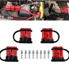 4x battery quick connect disconnect wire harness plug connector recovery 6 8 gauge [ 1000 x 1000 Pixel ]
