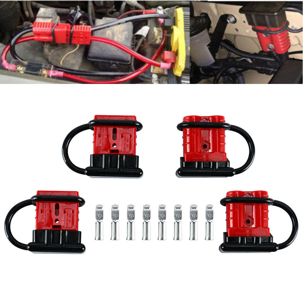 hight resolution of 4x battery quick connect disconnect wire harness plug connector recovery 6 8 gauge