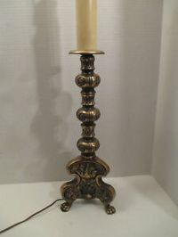 Vintage Ornate Brass Table Lamp Westwood Industries Mid ...