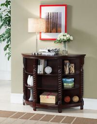 Kings Brand Furniture Cherry Finish Wood Entryway Buffet ...