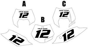 Fits KTM 250 SX 2011-2012 Pre-Printed White Backgrounds
