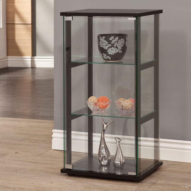 living room glass shelves picture curio cabinet bathroom storage display furniture wood