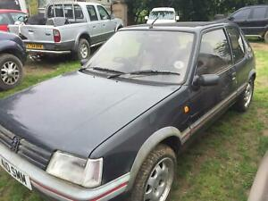 1989 Peugeot 205 1.9 gti barn find running project solid car