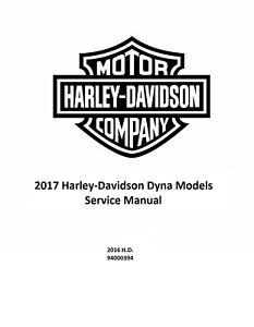 2017 Harley Davidson Dyna Models Factory Service Shop