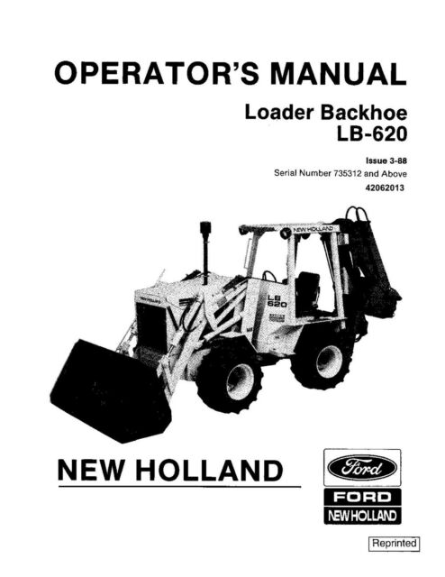 NEW HOLLAND LB620 SKID STEER LOADER OPERATORS OPERATION