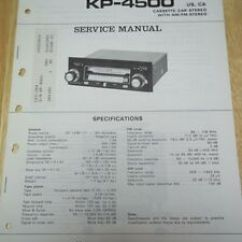 Pioneer Radio Manual Shovelhead Chopper Wiring Diagram Service Kp 4500 Car Stereo Cassette Original Image Is Loading