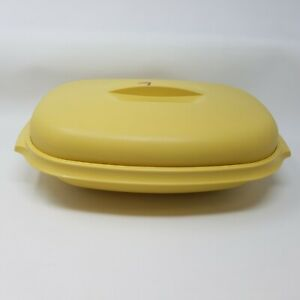 details about vintage tupperware microwave steamer set 1273 7 harvest gold 3 pc