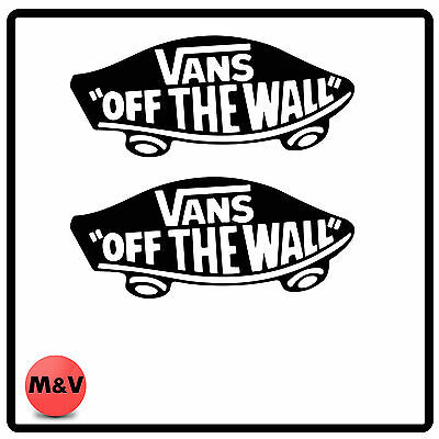 Vans Surf/Skatebord Off The Wall Sticker X2, Xbox,PC,PS4