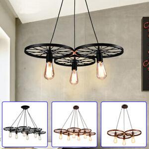 details about farmhouse lighting chandelier rustic vintage wagon wheel light fixture 3 6 light