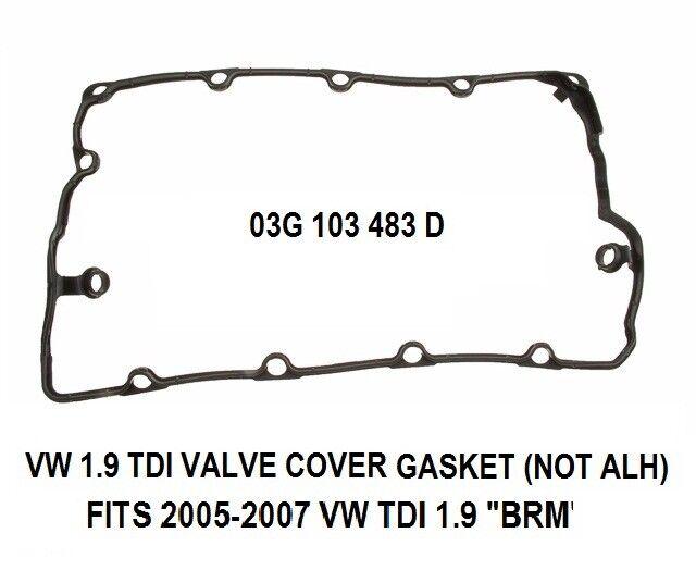 VALVE COVER GASKET For VW TDI Diesel 1.9 BRM Engine 2005