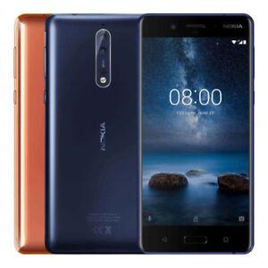 "Nokia 8 64GB TA-1004 Dual Sim (FACTORY UNLOCKED) 5.3"" 4GB RAM Silver Blue Gold"