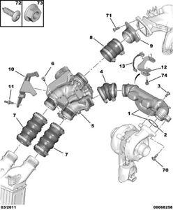0345E5 Air Doser Induction Pipe Manifold Citroen & Peugeot