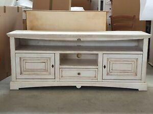 details sur meuble tv goutte 170 46 69 h bois blanc vieux rustique