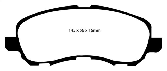 Disc Brake Pad Set-EBC 6000 Series Greenstuff Truck/SUV