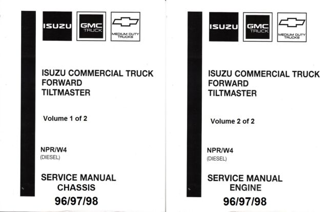 1996 1997 1998 Isuzu NPR, GMC Chevy W4 Diesel Truck Repair