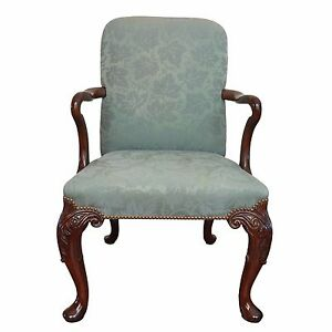 queen ann chairs christmas chair back covers uk baker furniture nailhead trim anne ebay image is loading