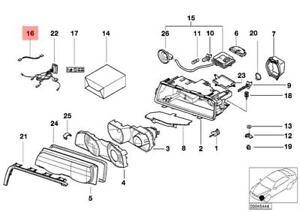 Genuine BMW E38 Sedan Wiring Light Regulator OEM