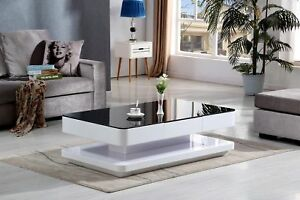 living room furniture black gloss diy pallet florence high coffee table glass image is loading