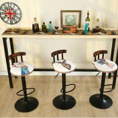 Retro Cafe Dining Chairs Christmas Office Chair Covers Vintage Bar Stool Kitchen Furniture Image Is Loading