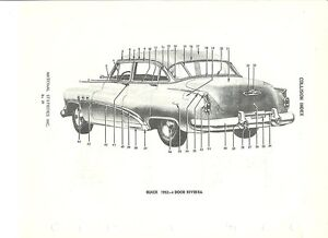 1952 Buick Special Rivera 4-Door NOS Exterior Body Parts