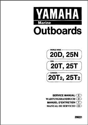 Yamaha 20 25 2-Stroke 20T 25T 20T2 25T2 20D 25N Outboard