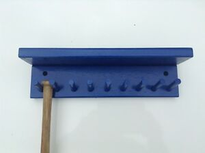 BASEBALL MINI BAT RACK HOLDS 8 Bats Shelf Wall Mount