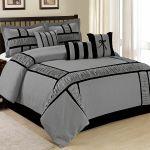 7 Piece Marma Ruffle Patchwork Comforter Sets Grey Navyblue Queen King Calking Ebay