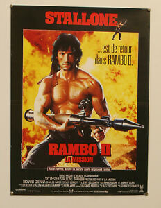 RAMBO FIRST BLOOD PART II - ORIGINAL 1985 FRENCH MOVIE ...