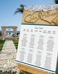 Image is loading personalised wedding table seating plan beach abroad also size rh ebay