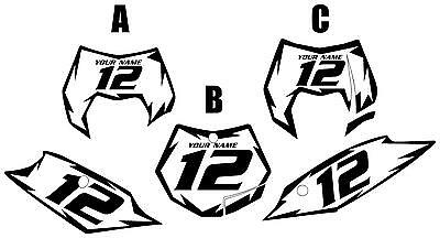 Fits KTM 250SX-F 2011-2012 Pre-Printed White Backgrounds