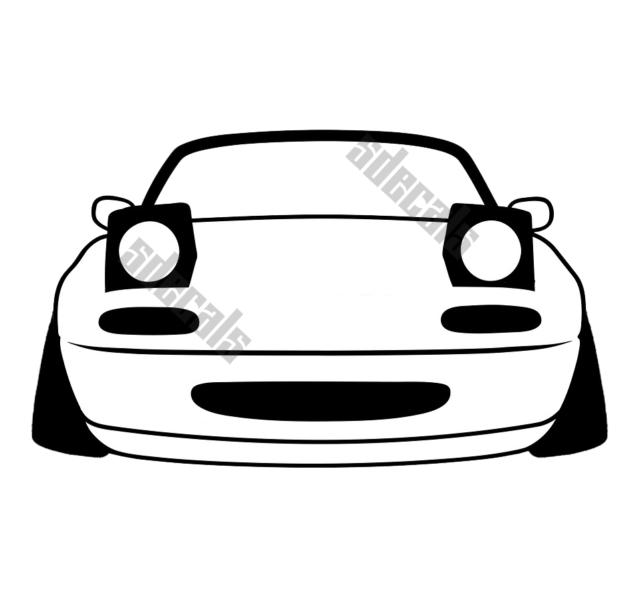 Miata Sticker NA Mx5 Stanced JDM Stance Lowered Decal for