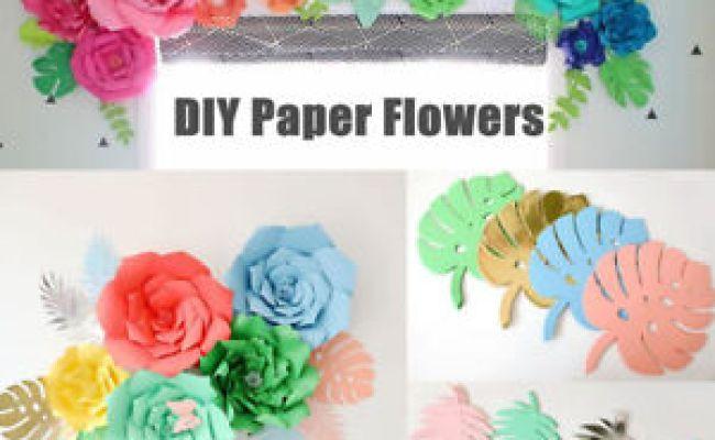 20 30cm Diy Paper Flowers Leaves Backdrop Kid Birthday