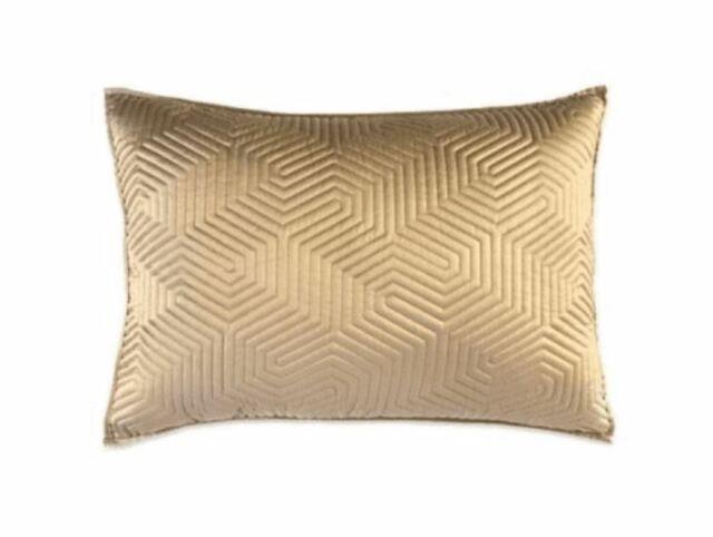 dkny helix standard queen quilted gold pillow sham