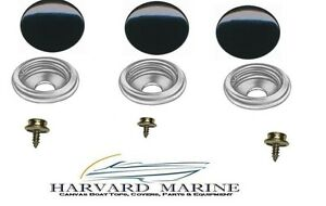 Boat Marine Canvas Black Snap Cap / Socket & 3/8