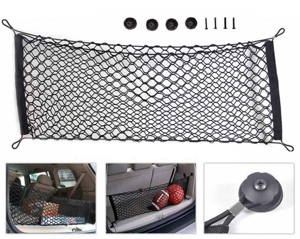 Large Car Boot Van Truck Cargo Net Bungee Cord Hooks