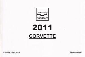 2011 Chevrolet Corvette Z06 GS C6 Owner's Owners Owner